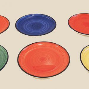 Assiettes En Céramique WHITTARD OF CHELSEA : Décor « Spinwash »