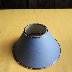 Ancien abat-jour Bleu NEUF (bande dorée) D20,2 cm