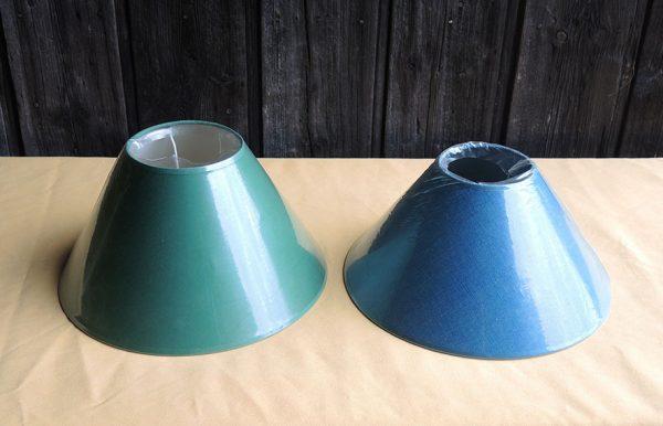 2-abat-jour-vintage-vert-bleu-canard-neufs-d30-cm