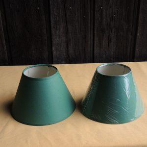 2 anciens abat-jour Vert NEUFS D 20,3cm