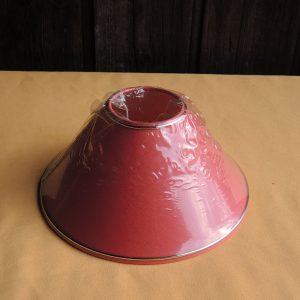 Ancien abat-jour Rouge NEUF (bande dorée) D25 cm