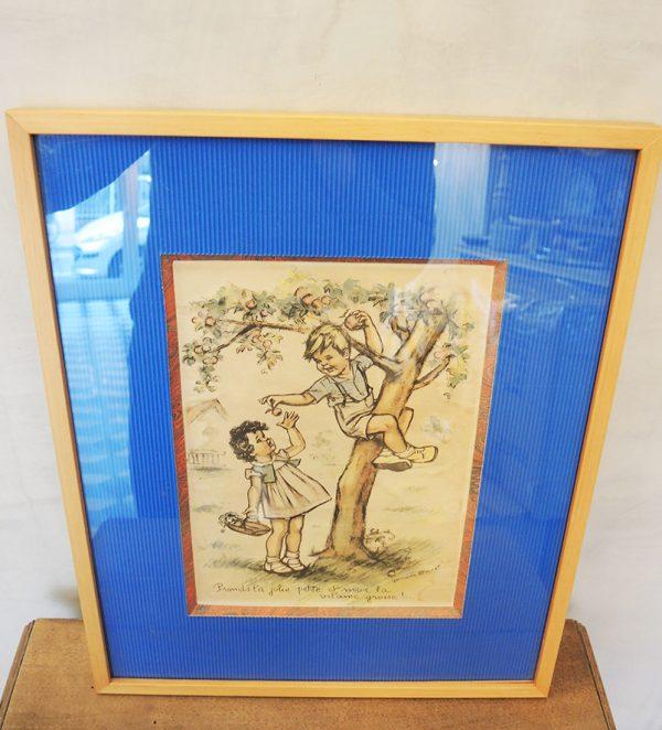 lithographie-gravure-vintage-germaine-bouret