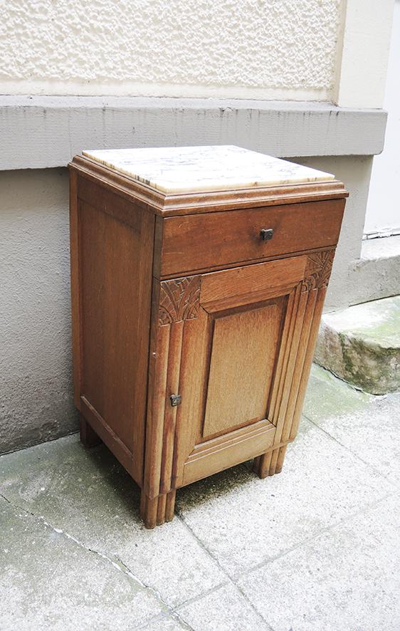 table-de-chevet-bois-marbre-art-deco
