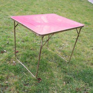 Table De Camping Vintage En Formica Rouge