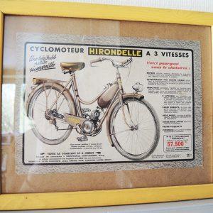 Publicité Vintage : CYCLOMOTEUR HIRONDELLE