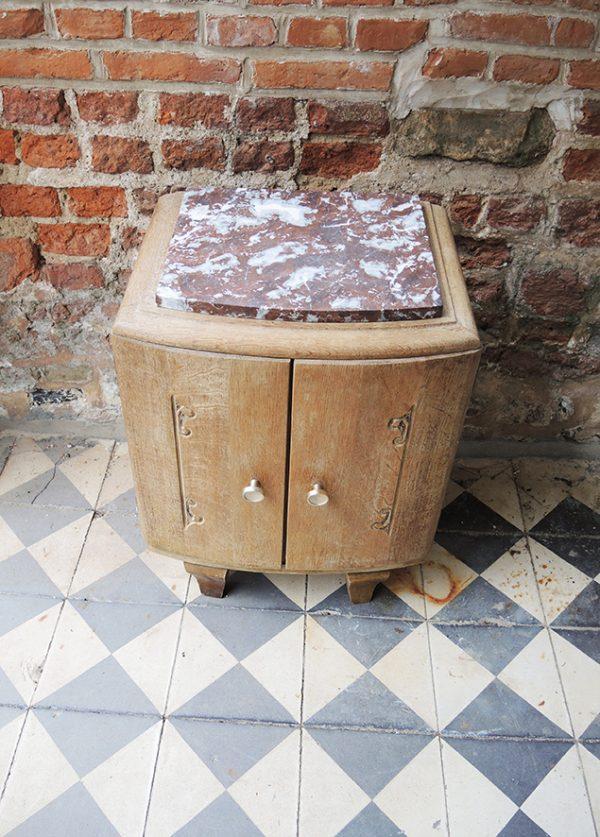 table-de-chevet-art-deco-bois-marbre