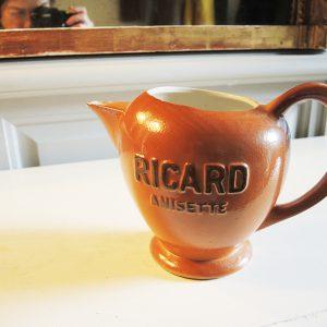Broc Vintage En Céramique RICARD ANISETTE
