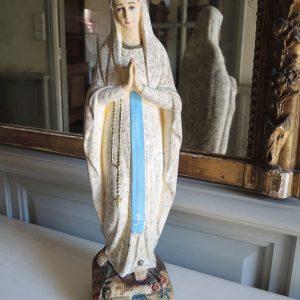 Statuette Notre Dame de Lourdes Vintage