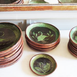 Service d'Assiettes Vintage en Terre Cuite de Patamban