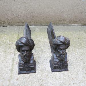Chenets en Fonte vintage : Homme au Turban