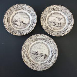 3 Assiettes vintage de la Faïencerie Guyon de Boulen Gien