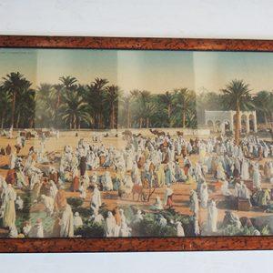 Photo panoramique vintage colorisée Orientaliste