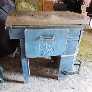 Cuisinière antique GODIN 20 CN en Email Bleu