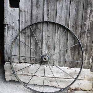 Ancienne Roue de Charrette / Carriole en Fer