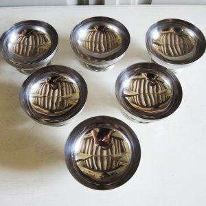 """6 Coupes à Glaçe Vintage en Inox """"Made in France"""""""