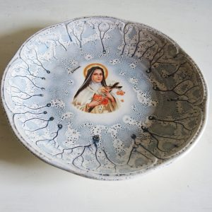 Assiette Vintage en Céramique Thérèse de Lisieux