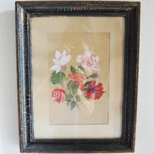 Aquarelle Vintage Florale Encadrée