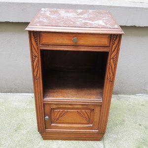 Table de Chevet Vintage en Bois Style Art Déco