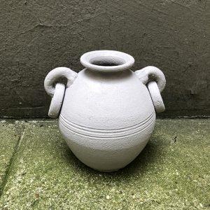 Vase vintage Effet Terre Cuite Taupe Mate